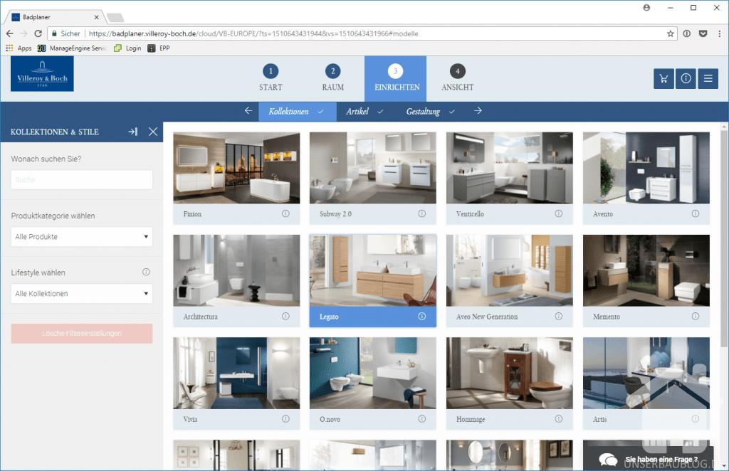 test der villeroy und boch online badplaner seite 3 von. Black Bedroom Furniture Sets. Home Design Ideas